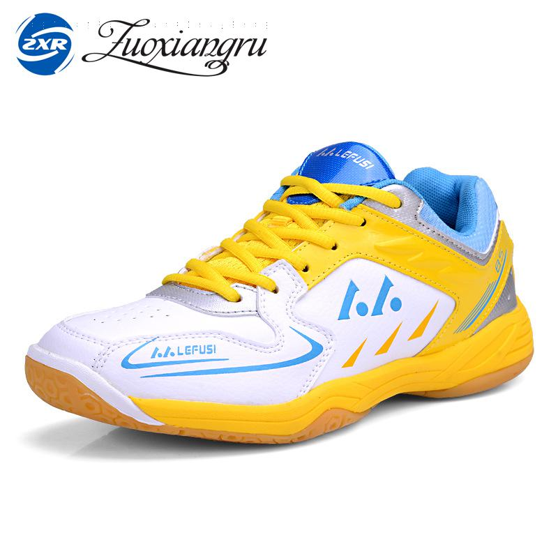 Zuoxiangru New Plus Brand Badminton Shoes High Quality Table Tennis Shoes Men Women Light Weight Indoor Sneakers Sport Shoes