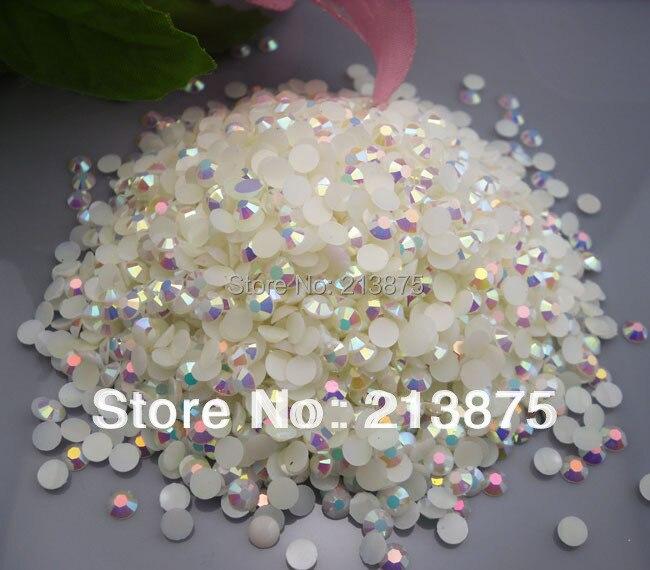 En gros grande quantité 10000 pièces blanc magique couleur AB gelée 6mm résine strass téléphone portable bâton perceuse SS30