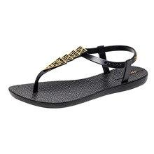 INS ladies sandals womens summer flat with 2019 new bohemian bottom wild resort beach shoes women black 40