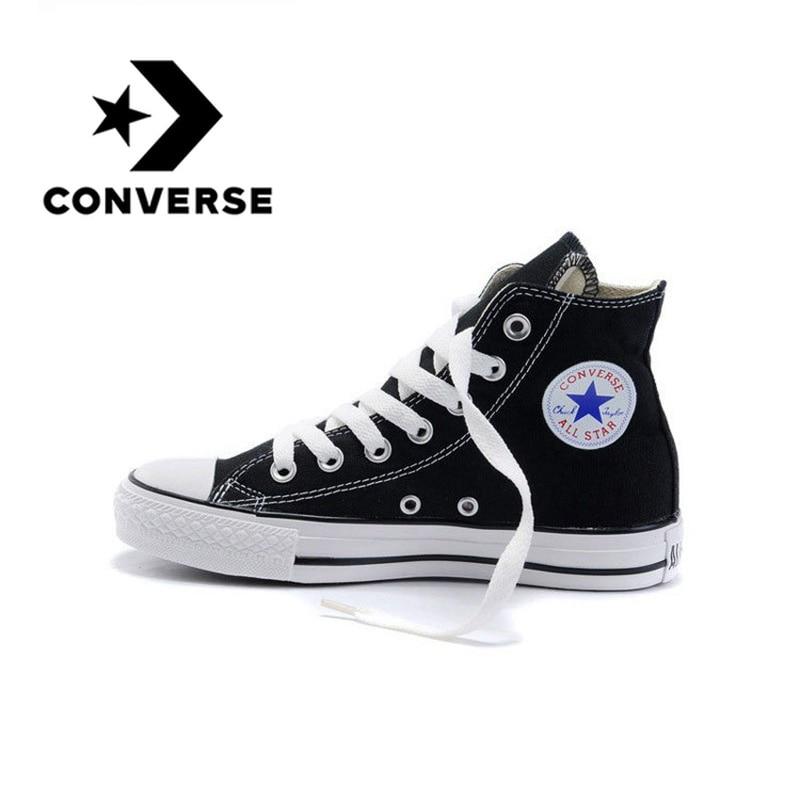 Converse Skateboarding chaussures Original classique unisexe toile haut Anti-glissant Sneaksers confortable Falt chaussures lumineuses 102307