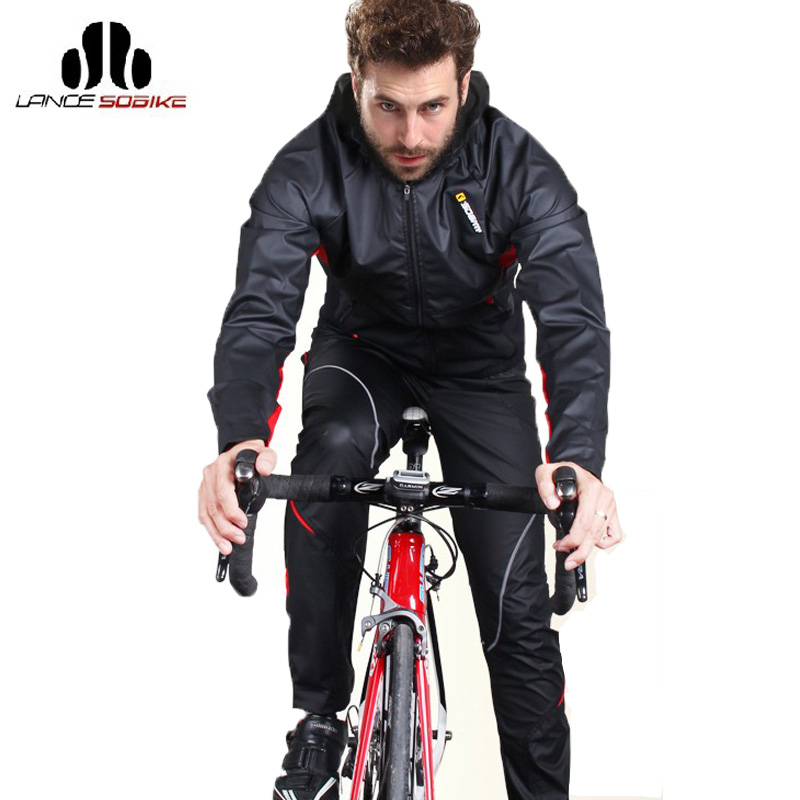 SOBIKE Men's Cycling Jacket Sets Windproof Breathable Long Sleeves Bike Jersey With Hood Full Pants Bicycle Clothing Equipment hot cheji men bike long jersey pants sets hornets black pro team cycling clothing riding mtb wear long sleeve shirts