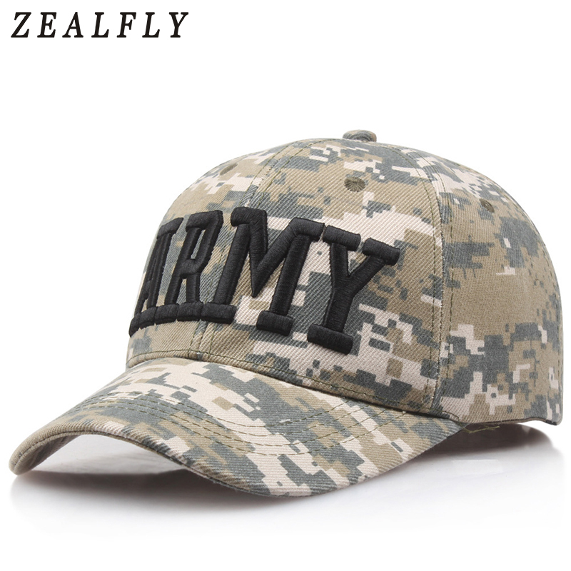Digital Camouflage ARMY Tactical Baseball Cap Male Letters POLICE Mens Snapback Hats USAF Outdoor Caps For Men OBAMA Dad Hat