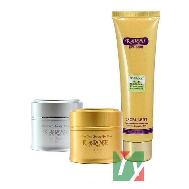 Caliente al por mayor Qiao Mei blanqueamiento crema de día + crema de noche crema anti de la peca que blanquea la crema para la cara
