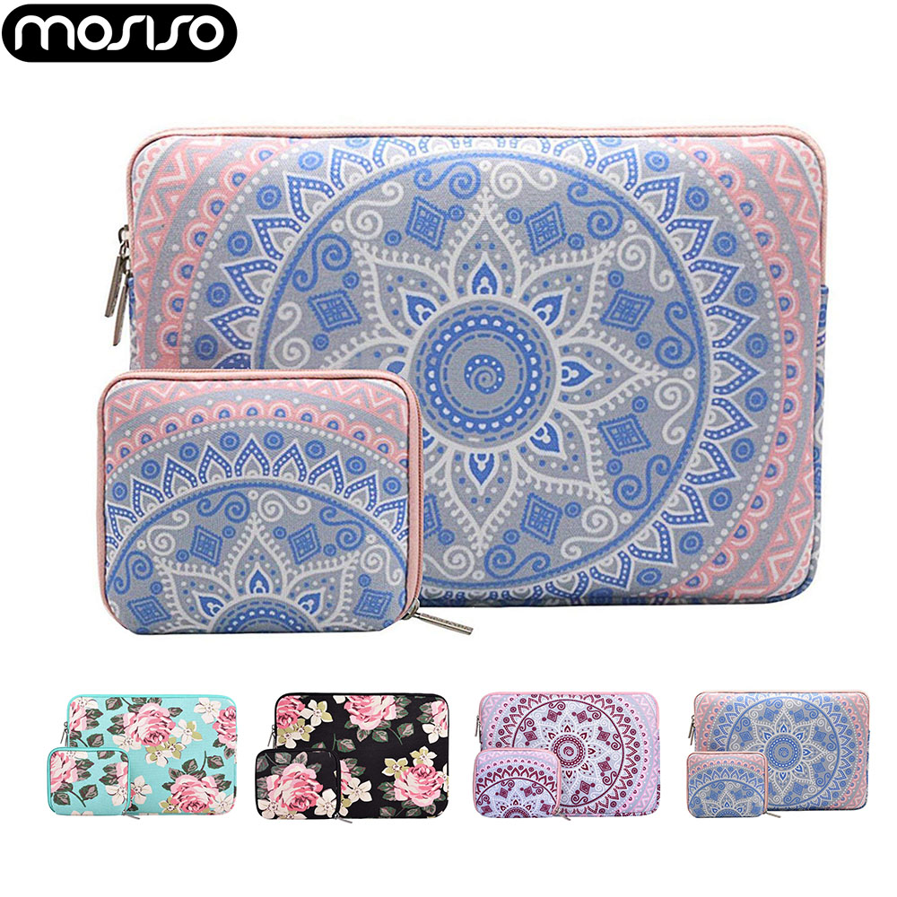 MOSISO 11 12 13 13.3 14 15.6 Inch Laptop Canvas Sleeve Bag Case For Macbook Air Pro Retina 13 15 Surface Pro Acer Dell HP 2019