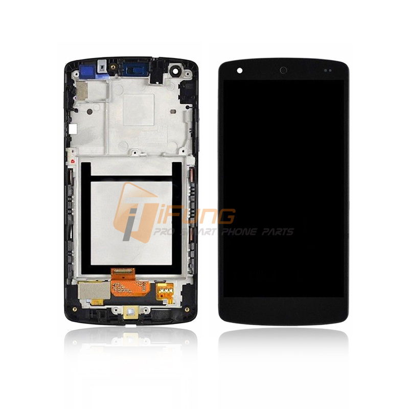 ФОТО 5pcs/lot Free DHL Black LCD touch screen digitizer assembly with frame for LG Google Nexus 5 D820 D821