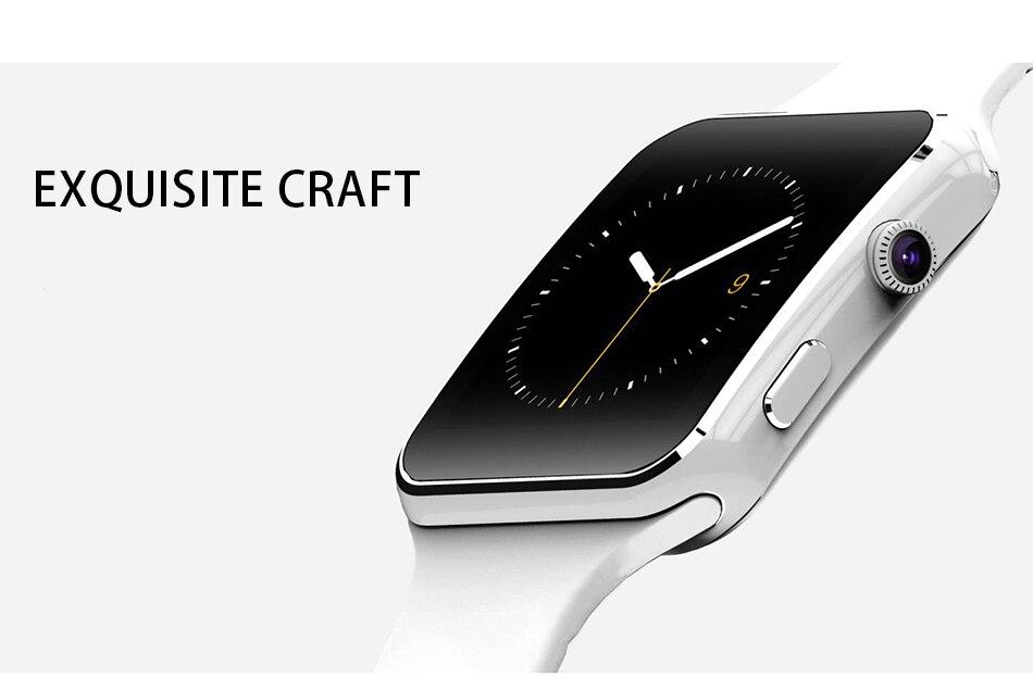 Chegada nova x6 relógio inteligente com tela