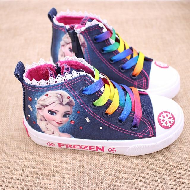 a30511d5e97 Nueva niña moda infantil zapatos de lona de algodón Niña Tenis para Niños  Tenis de rodinha