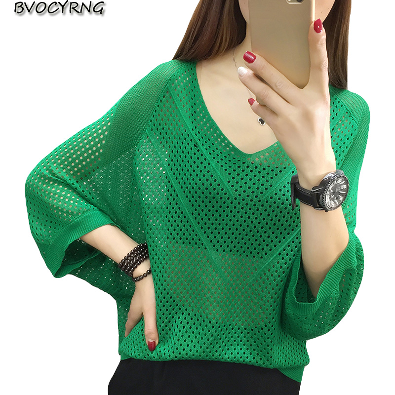 Womens Plus Size Batwing Sleeve Open Front Cardigans Hollow Out Loose Knitted Sweater Coat Outwear