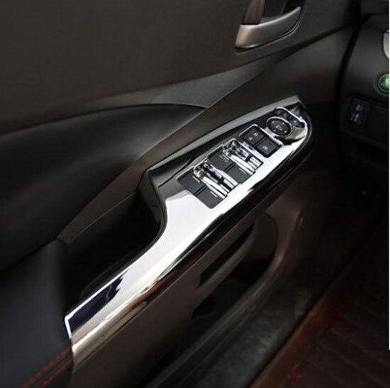 Accessories Fit For Honda Crv 2012 2013 2014 Chrome Interior Door Window Switch Panel Cover Trim