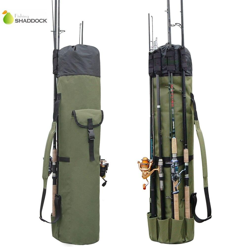 Shaddock Angeln Tragbare Multifunktions Nylon Angeln Taschen Angelrute Tasche Fall Angelgerät Werkzeuge Lagerung Tasche