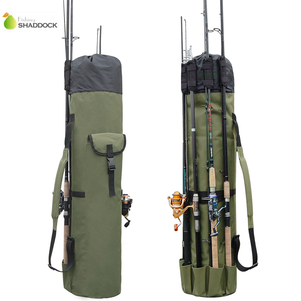 Shaddock pesca portátil multifunción bolsas de pesca de Nylon bolsa de caña de pescar caso aparejos de pesca herramientas bolsa de almacenamiento