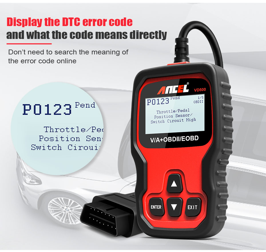 Details about Ancel VD500 OBD2 ABS SRS EPB Oil Reset Throttle Adaptation  Scan Tool fr Audi V W