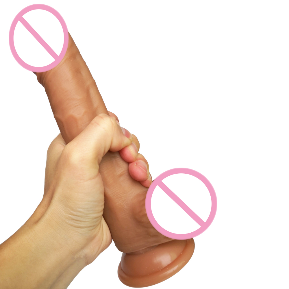 AMABOOM 21*4CM Realistic Soft Penis Strapon Super Huge Big Dildo Suction Cup Silicone Penis G Spot Stimulate Sex Toy for Women image
