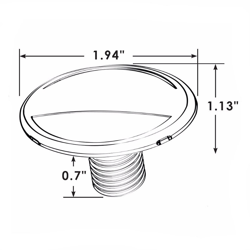 Image 2 - 12V Marine Boat Yacht Deck Light Stainless Steel Recessed Courtesy Lamp Wall Ceiling Light-in Marine Hardware from Automobiles & Motorcycles