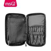 MSQ Professional Make Up Case Large Capacity 30pcs Make Up Brushes High Quality Nylon Makeup Bag