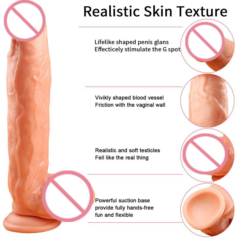Sex Shop Hot Super Huge Dildos Realistic With Strong Suction Cup Male Artificial Penis Dick For Woman Masturbator Adult Sex Toys realistic sound control rotation huge dildo vibrator with suction cup male artificial penis dick masturbator sex toys for woman
