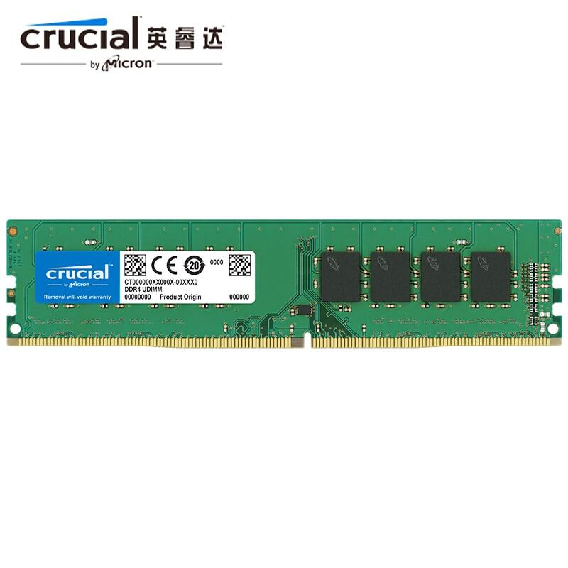 Memória de ram crucial 8 gb 4gb 16gb 8 gb ram ddr4 2133mhz 2400mhz 2666mhz 288-pino para o desktop
