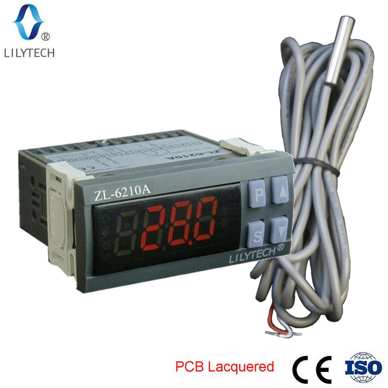 ZL-6210A, Digital, Temperature Controller, Thermostat, Economical Cold Storage Controller, LilytechZL-6210A, Digital, Temperature Controller, Thermostat, Economical Cold Storage Controller, Lilytech