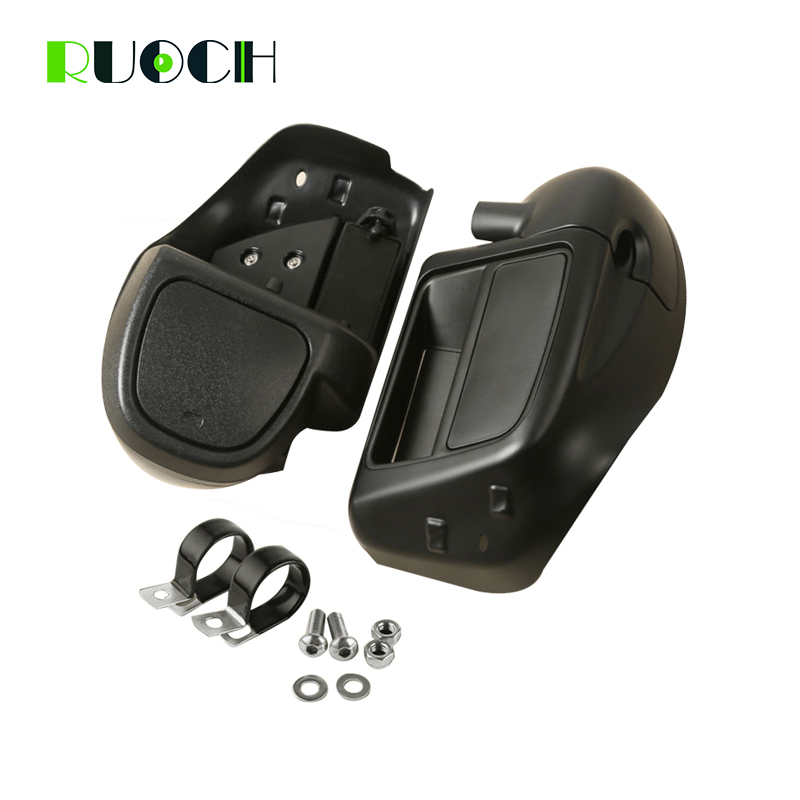 Motorcycle Accessories Lower Vented Leg Fairing Glove Box Hardware Warmer for Harley Davidson Touring Electra Street Glide 14 18