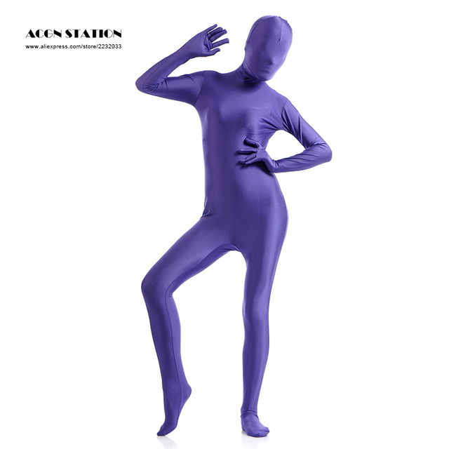 2816a0b81c6 24h 2017 Deep Purple Lycra Spandex Zentai Suit for Women Halloween Jumpsuit  Romper Rush order Same day shipping 24-hour ship