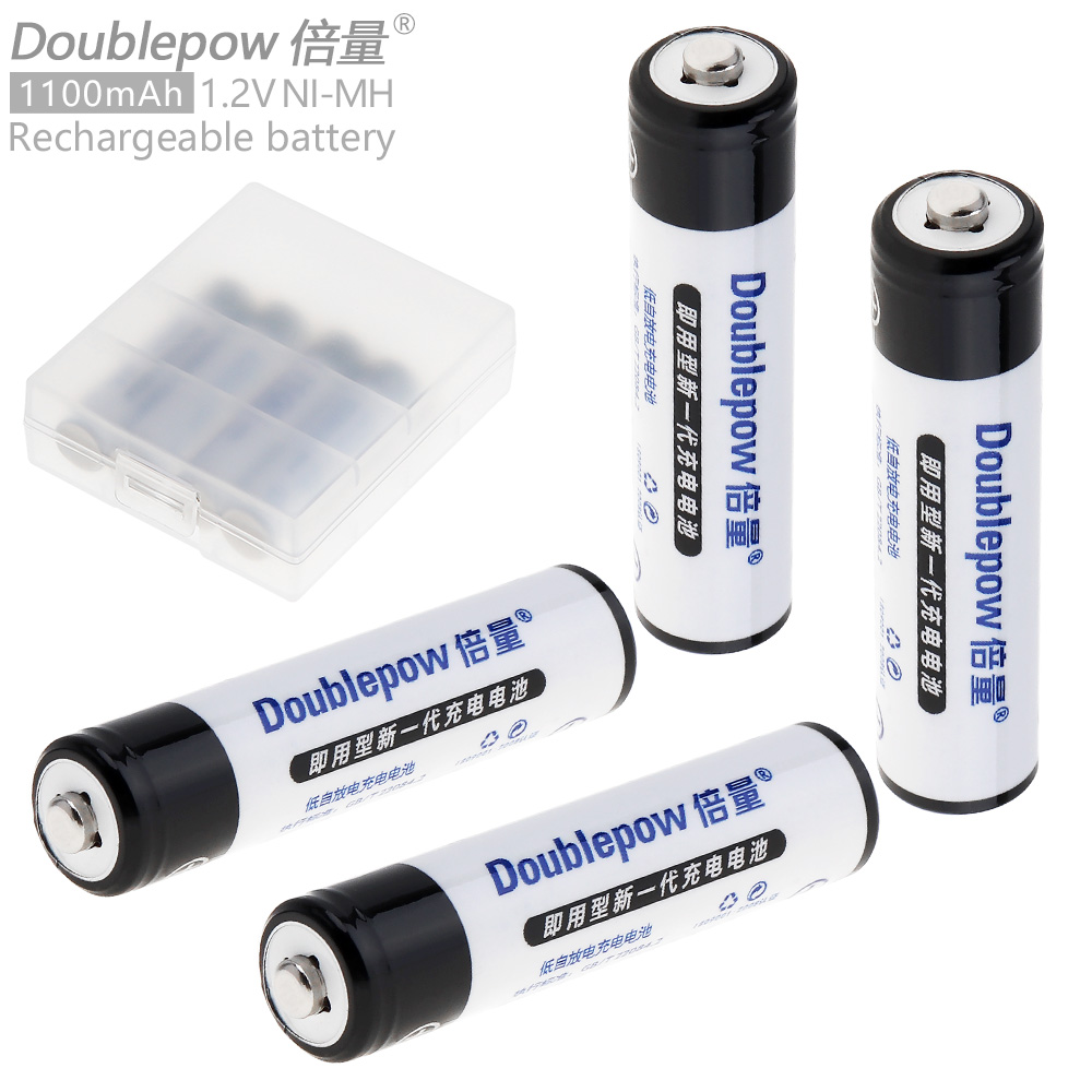 4pcs doublepow 1100mah aaa battery 1 2v ni mh lsd rechargeable batteries over 1200 times cycles. Black Bedroom Furniture Sets. Home Design Ideas