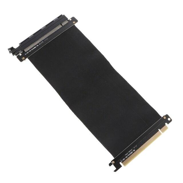 16X PARA 16X Pcie PCI Express 16x Riser Cartão Flexível Extensão Do Cartão Do Cabo Adaptador de Porta de Alta Velocidade