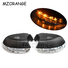 LED Rear View Mirror Signal Light For VW Passat B7 2009-2015 Rearview Mirror Indicator Turning Signal Light With Puddle Light for buick excelle gt brand new car rearview mirror blue glasses led turning signal light with heating