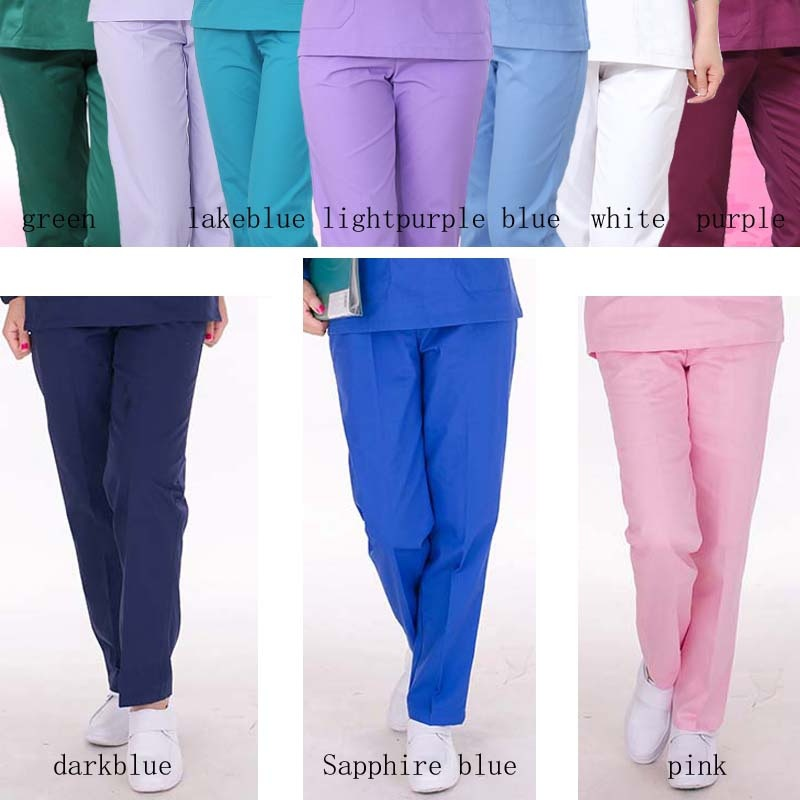 [PANT] Women's Fashion Scrubs Pants Medical Uniforms Color-blocking Design