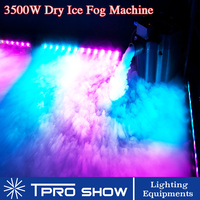 3500W Smoke Machine Water Dry Ice Low Lying Ground Fog Effect for Stage Wedding Event Party DJ Light Show Covered Dance Floor