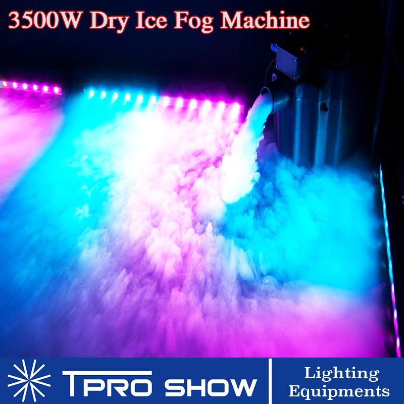 3500W fumée Machine eau glace sèche bas couché sol effet de brouillard pour scène mariage événement fête DJ lumière spectacle couvert piste de danse