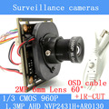 1.3MP AHD 1200TVL mini night vision surveillance camera 1/3 CMOS 6mm Lens CCTV 960P Camera Module OSD Cable
