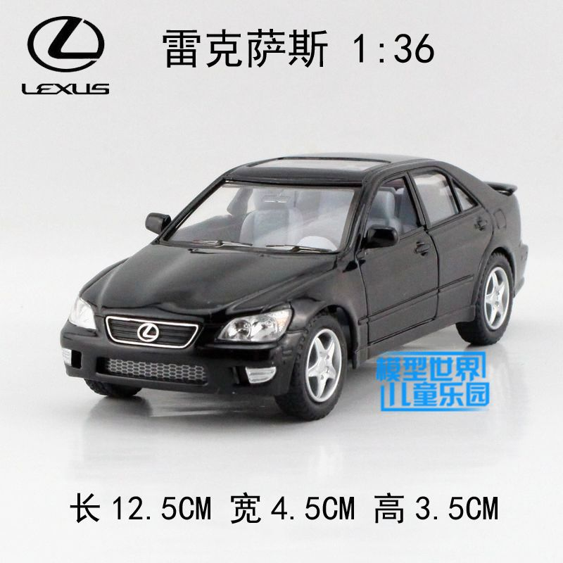 brand new kt 136 scale car model toys lexus is300 diecast metal pull back car toy for giftcollectionkids