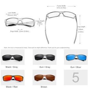 Image 4 - KINGSEVEN Brand Design Fashion Aluminum Magnesium Sunglasses Men Polarized Driving Eyewear For Men UV400 Oculos N7021