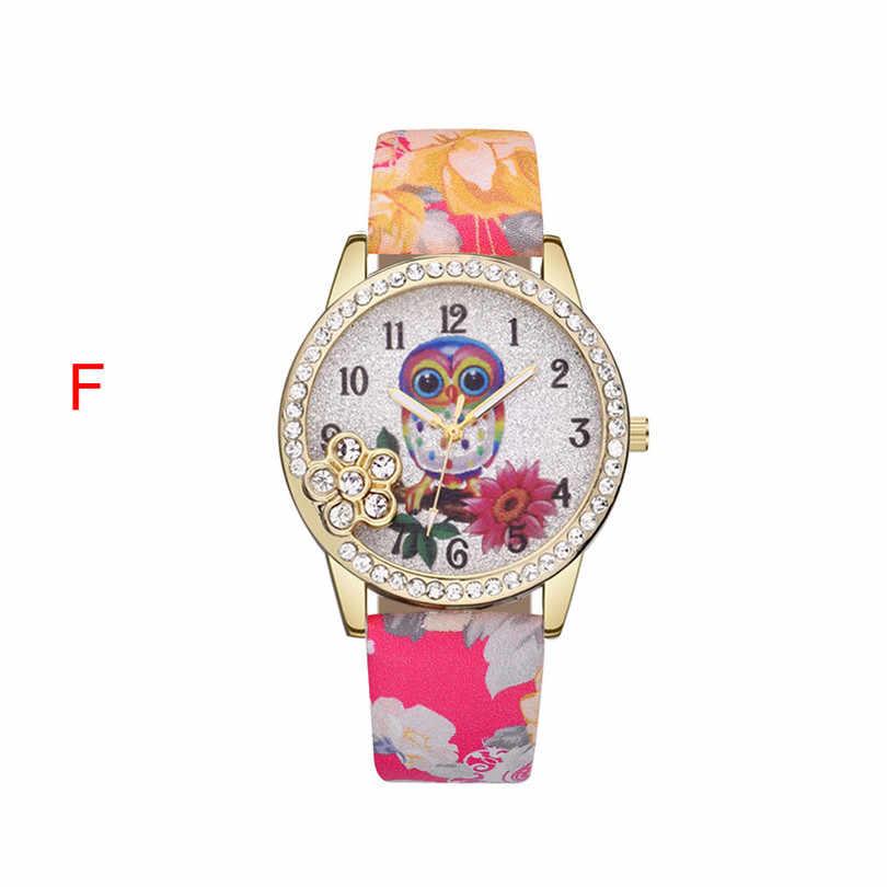 Relojes de mujer Retro Casual de cuero Vintage reloj de cuarzo de mujer de moda Simple cara reloj de madera multicolor 5FN