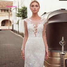 LEIYINXIANG New Arrival Popular Bride Dress Wedding Vestido De Noiva Sereia Robe Sexy Mermaid Appliques Sweetheart Zipper