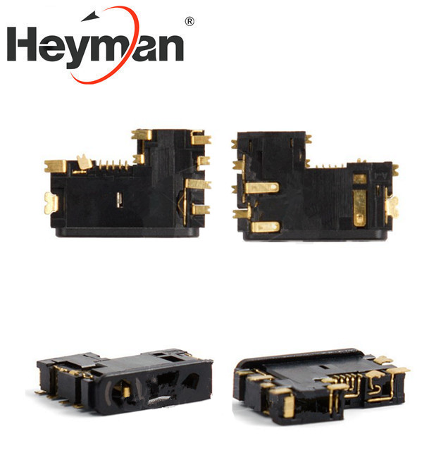 Heyman (5 pcs/lot) Charge Connector for <font><b>Nokia</b></font> 1200,1202,1208,<font><b>1650</b></font>,2332c,2600c,2630,2760,5000 Cell Phones image