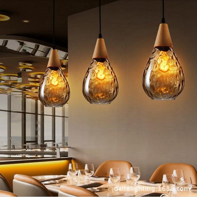 Hanging Kitchen Light Fixtures Best Flooring Lukloy Water Drop Industrial Retro Led Pendant Lights Hanglamp Fixture Lighting Lamp