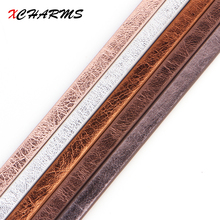 XCHARMS 5MM Flat PU Leather Cord Matt Surface Rope Jewelry Findings Accessories Fashion Jewelry Making Materials for Bracelets