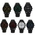 Marca Top Hot Assista Moda Casual Relógios de Pulso de Couro Homens Relógio de Quartzo Dos Homens Vestido de Negócios de Luxo Relógio