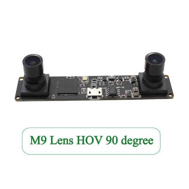 ELP Synchronization 3D USB Camera   MJPEG 60fps 1 3MP OV9750 UVC Mini  Webcam Dual Lens For Raspberry pi,Linux,Windows