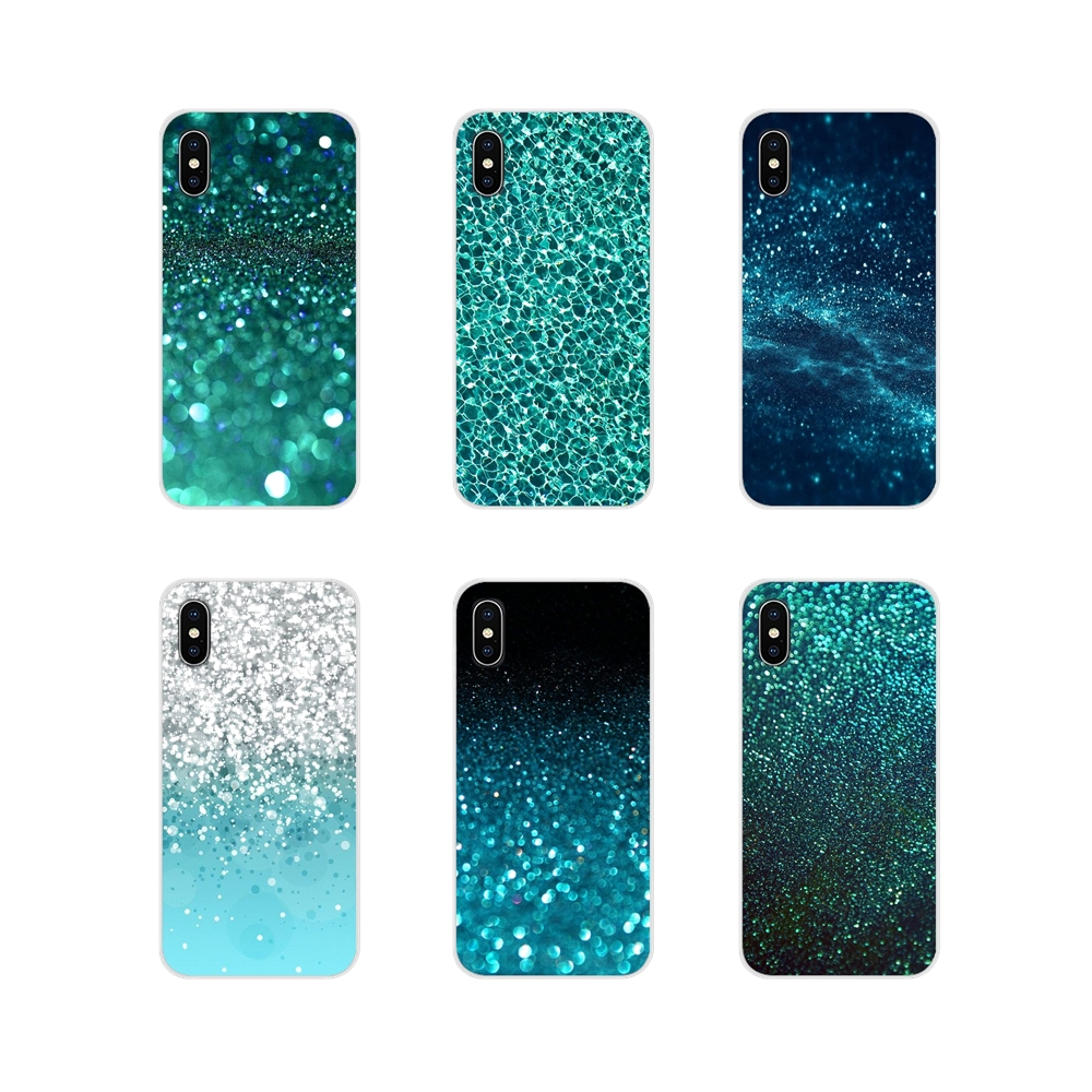 Teal Blue Glitter Amazing For Samsung Galaxy A3 A5 A7 A9 A8 Star A6 Plus 2018 2015 2016 2017 Accessories Phone Cases Covers image