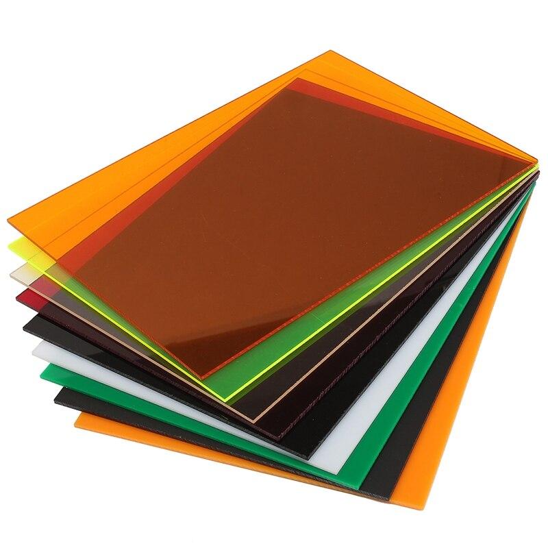 A4 210x297x3mm Transparent Acryl (PMMA) plexiglas Getönte Blätter/plexiglas platte/acryl platte schwarz/weiß/rot/grün/orange
