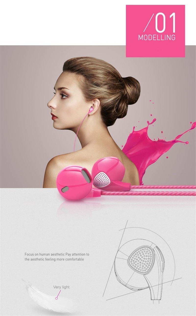 New Earphone Headset Colorful with Mic Remote In-ear for LeEco (LeTV) Le Max2 fone de ouvido