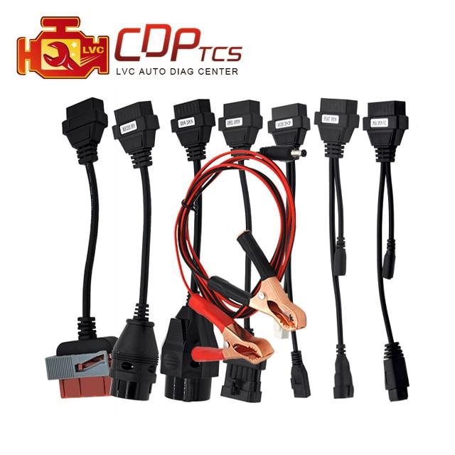 Prix pour Haute qualité ensemble Complet de voiture 8 câbles pour cdp tcs Plus mvd Multidiag pro OBD2 de voiture conduit de diagnostic-outil interface OBD II scanner