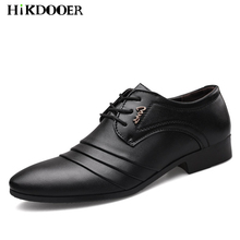 Men Leather Dress Shoes Mens Fashion Formal Wedding Flat Top Quality Male