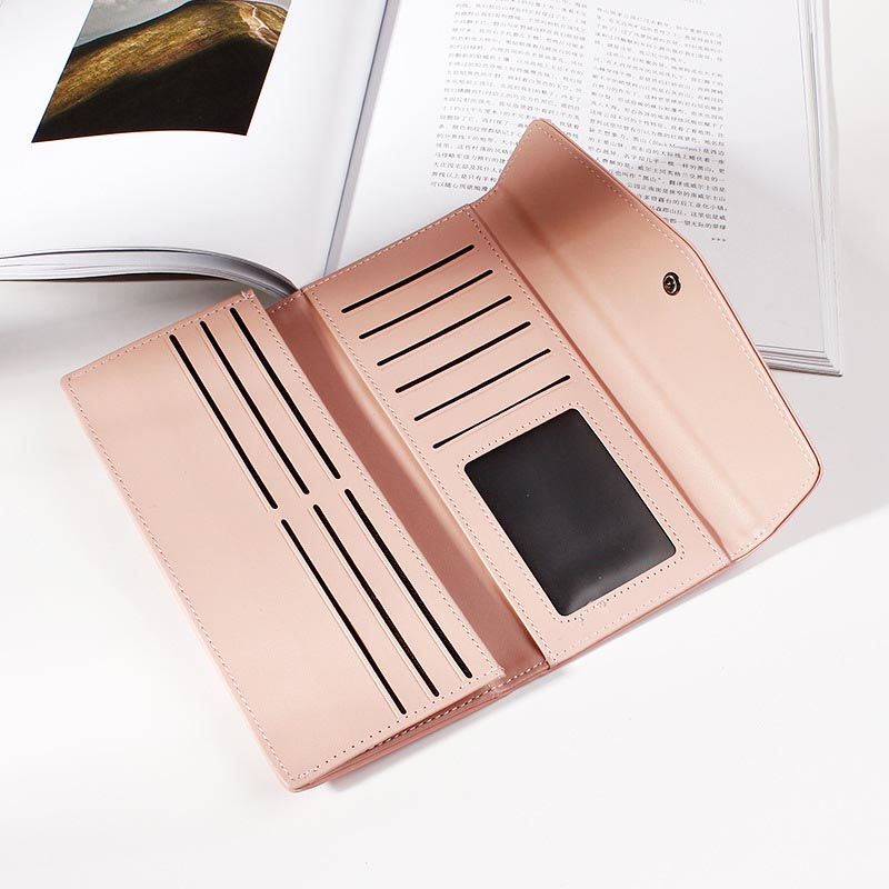 Brand Designer Female Purses Wallet Women Long Zipper Coin Purse Women Wallets Pu Leather Card Holder Colorful Clutch Female in Wallets from Luggage Bags