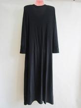 New fashion black islamic Malaysia abaya Muslim long dress