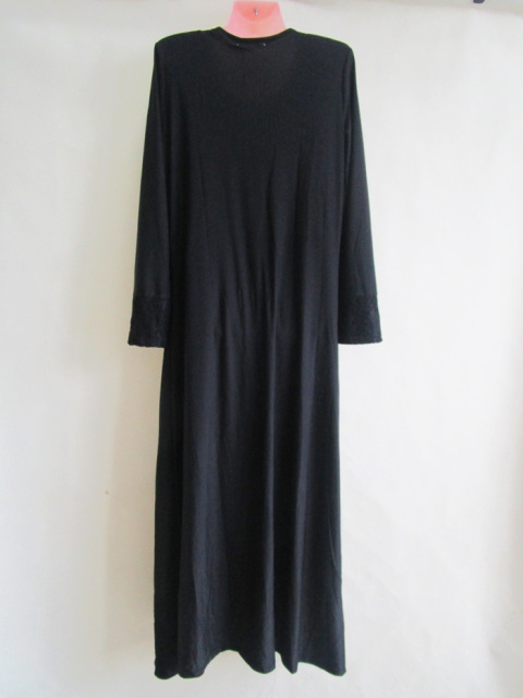New fashion black islamic Malaysia abaya Muslim long dress