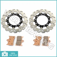 310MM Motorcycle Front Brake Discs Rotors Brake Pads For YAMAHA FZ8 800 2011 2012 2013 XTZ
