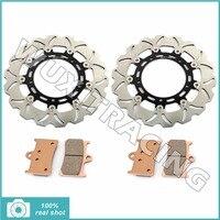 310MM Motorcycle Front Brake Discs Rotors Brake Pads For YAMAHA FZ8 800 2011 2012 2013 XTZ